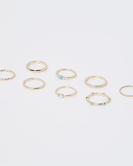 Gold enameled rings multipack