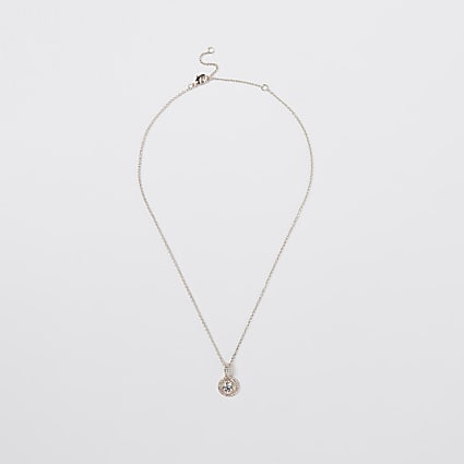 Gold linked disc necklace