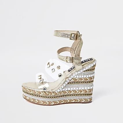 Gold perspex gem wedges