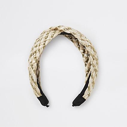 Gold plaited knot headband