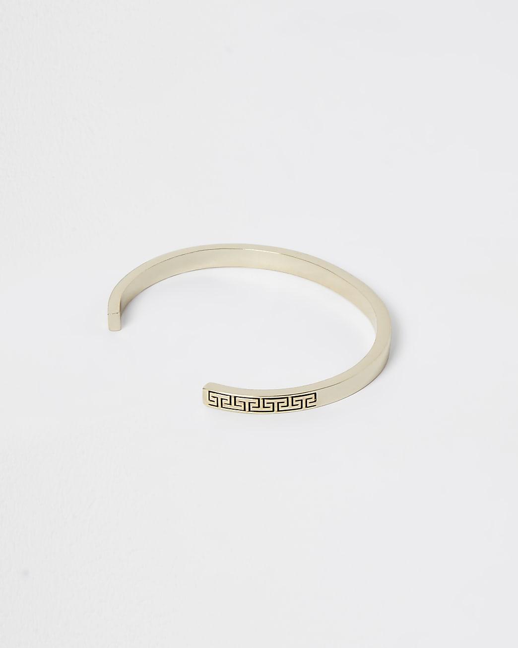 Gold plated Greek key cuff