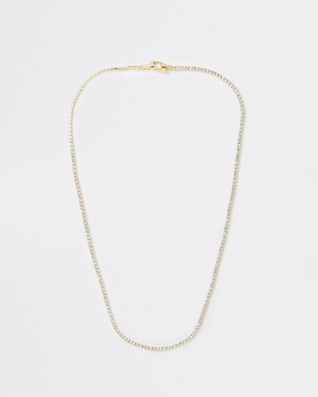 Gold Plated Tennis Necklace