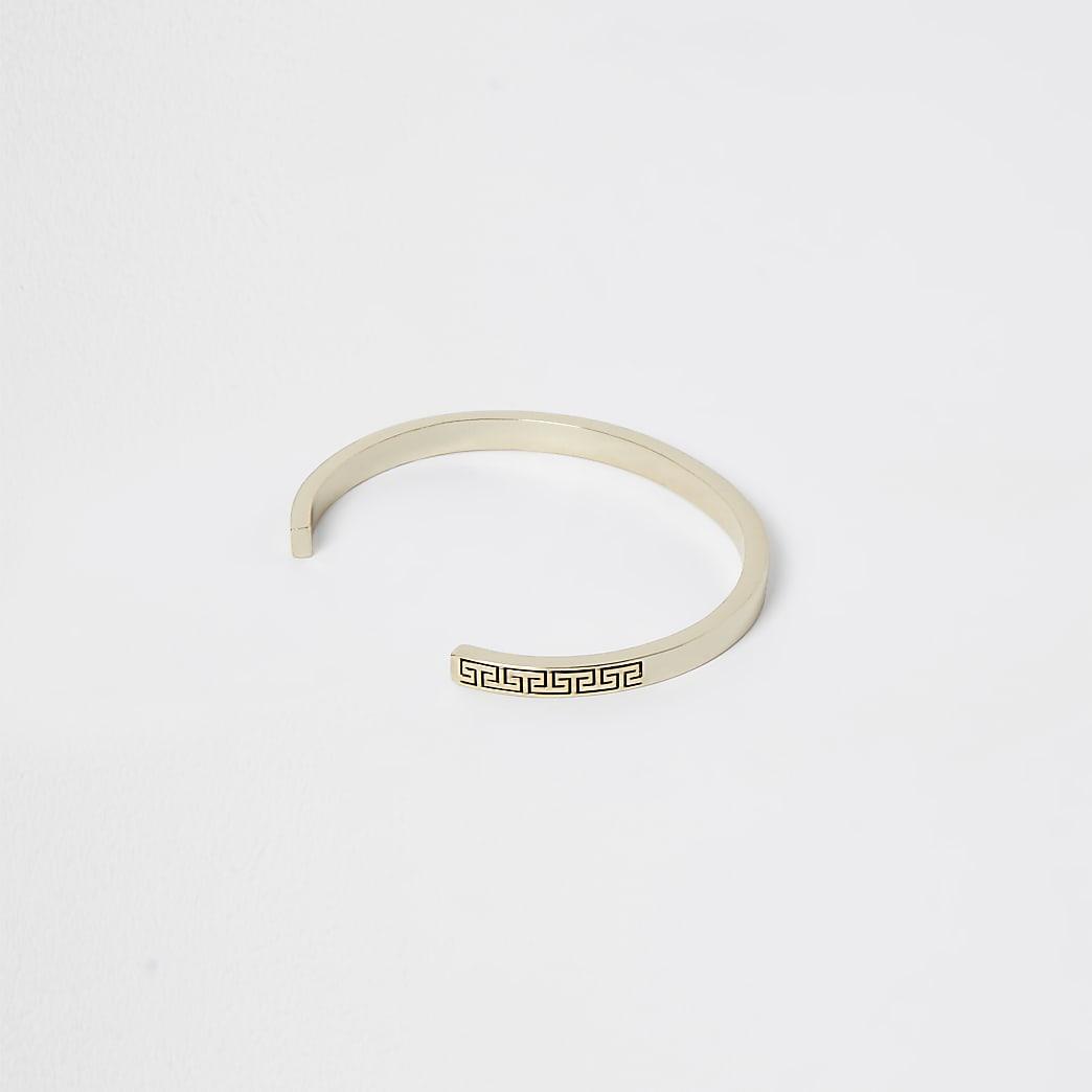 Gold premium Greek embossed bracelet