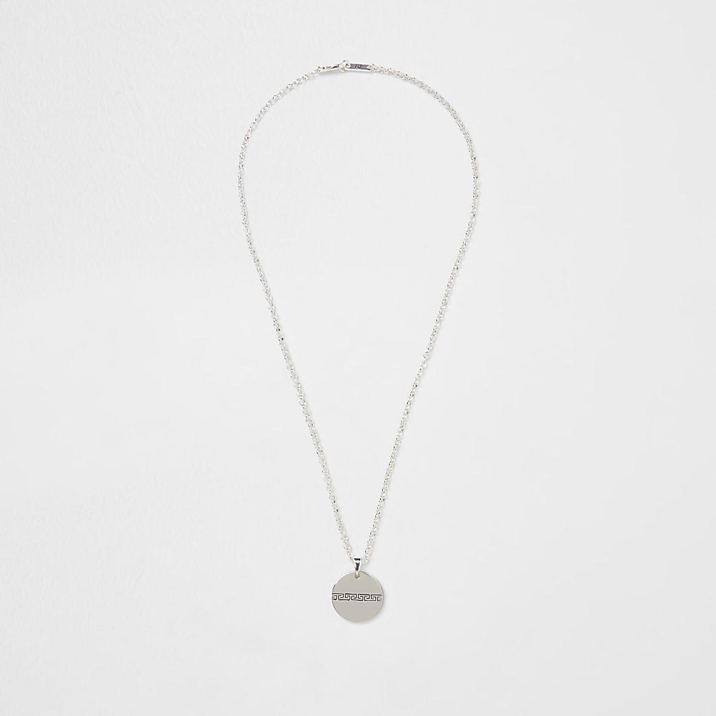 Gold premium Greek embossed necklace