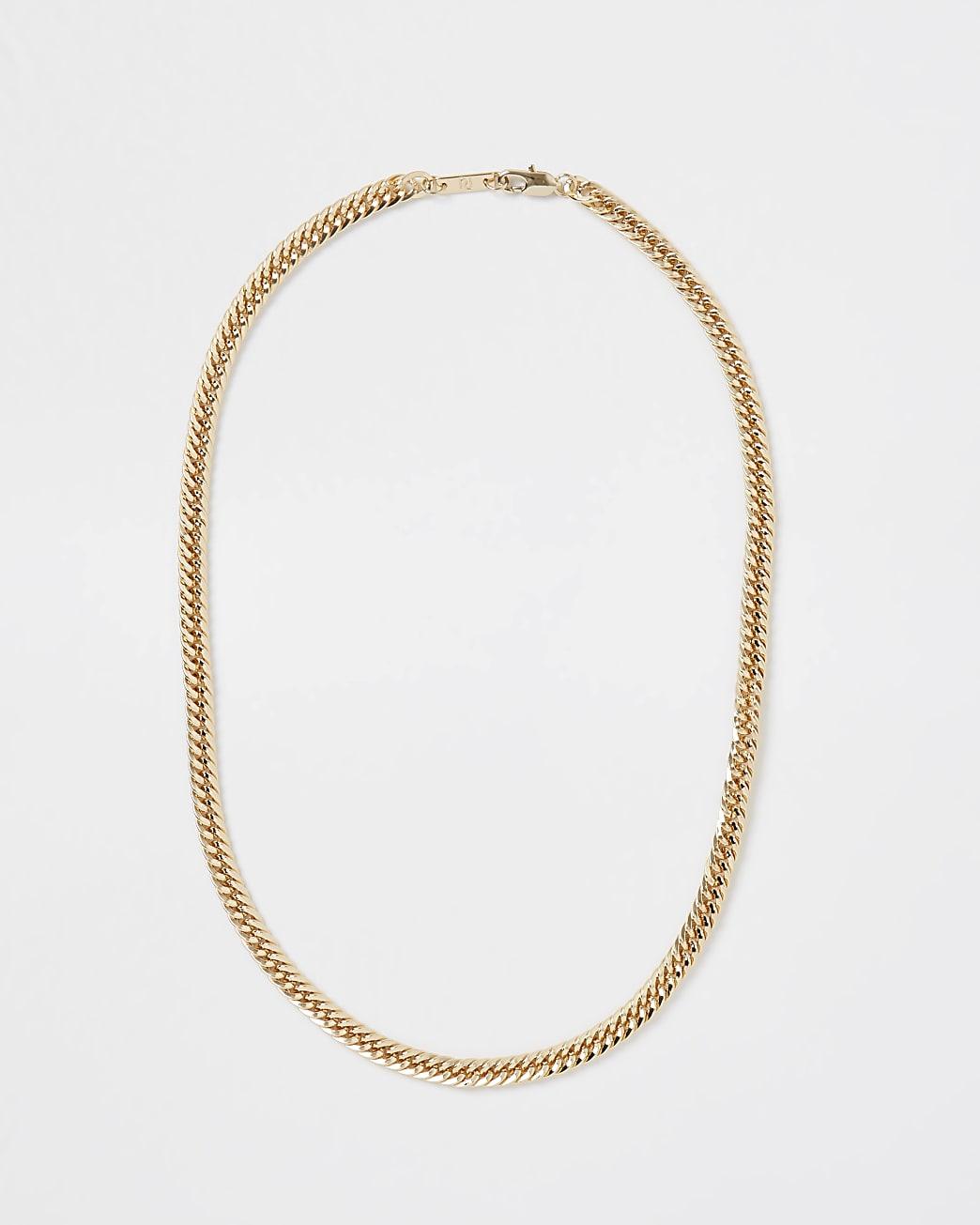Gold RI chain necklace