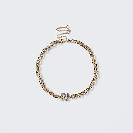 Gold RI diamante necklace