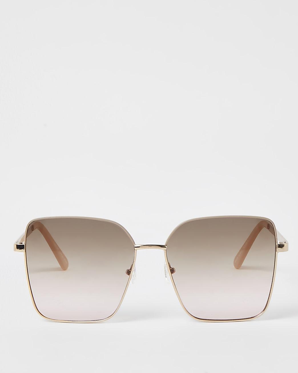 Gold RI embossed sunglasses