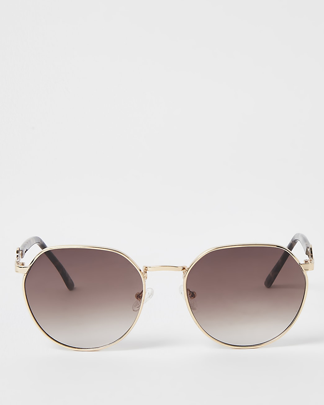 Gold RI round sunglasses