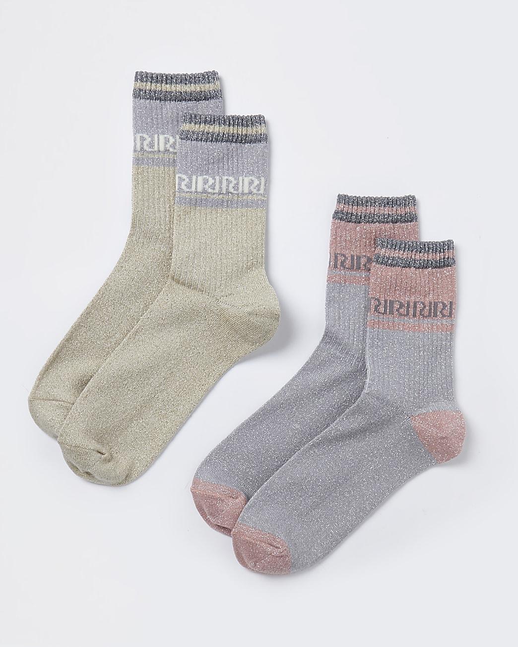 Gold RI socks 2 pack