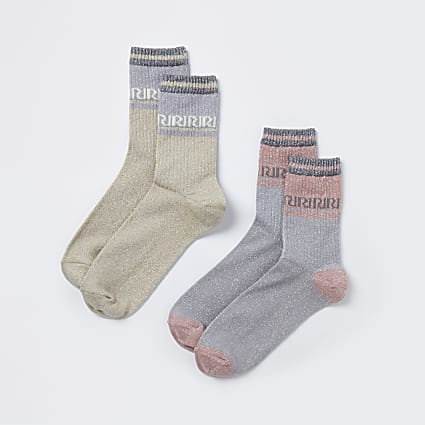 Gold RI socks 2 pack