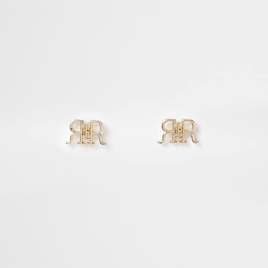 Gold RIR Stud earring