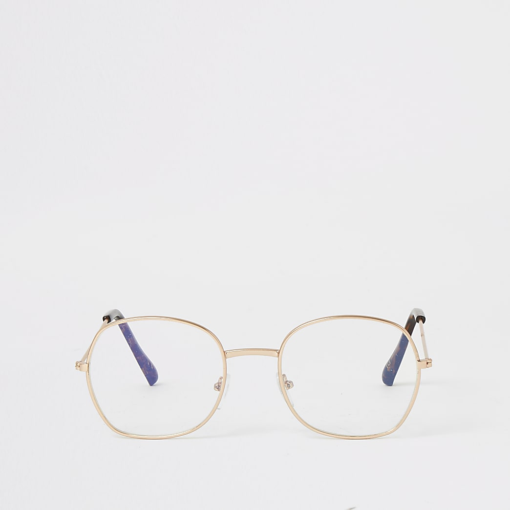 Gold round pretender sunglasses