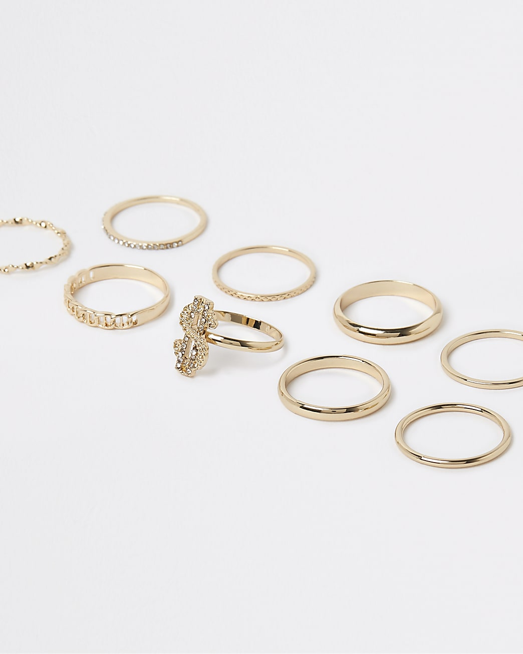 Gold stacking rings multipack