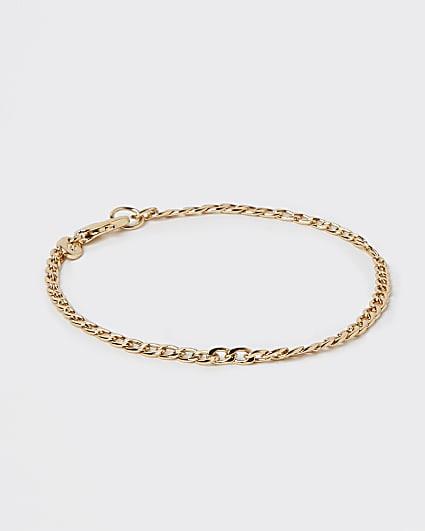 Gold stainless steel chain bracelet