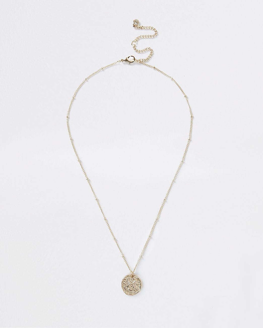 Gold Taurus horoscope coin necklace