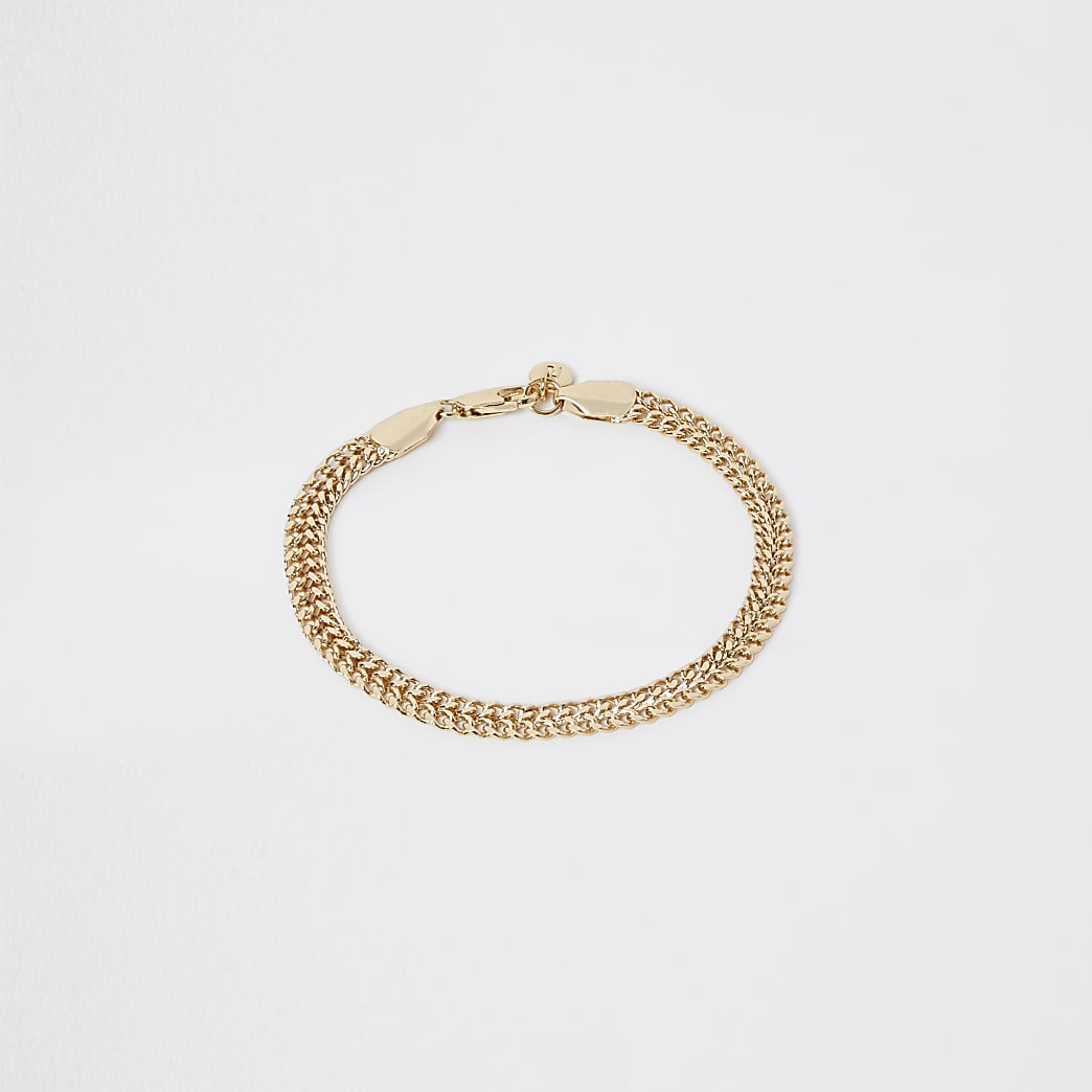 Gold thick chain bracelet