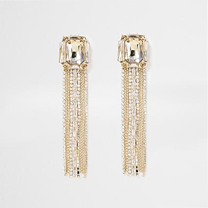 Gold Tone chain Tassel Dangle Earring