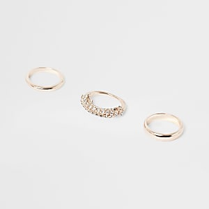 Gold tone ring pack