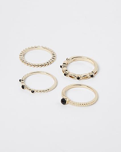 Gold twist rings multipack