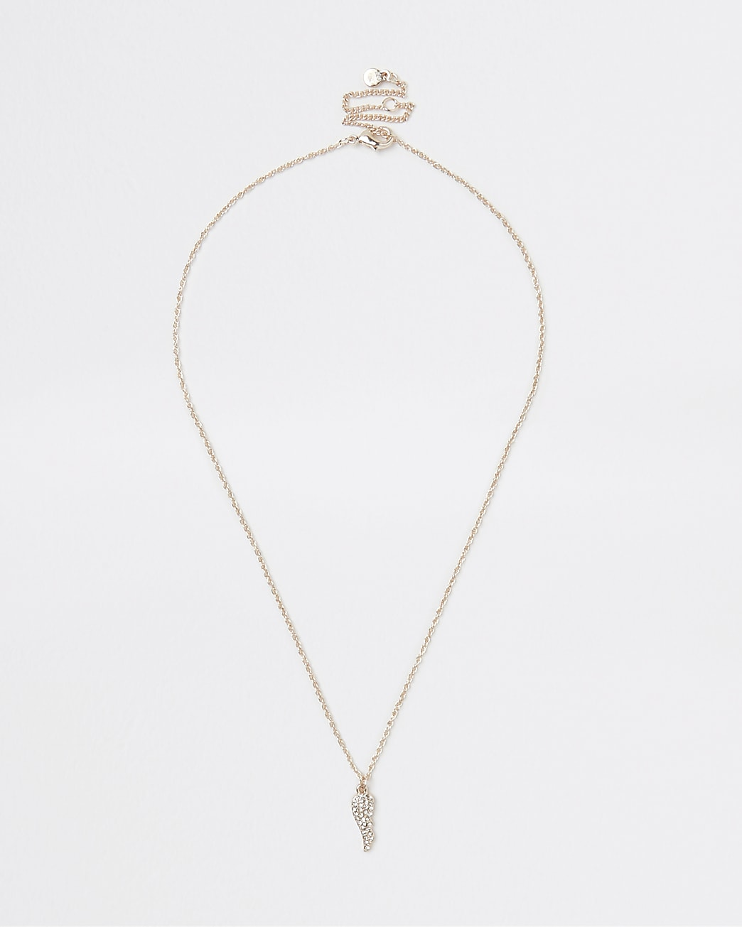Gold wing pendant necklace