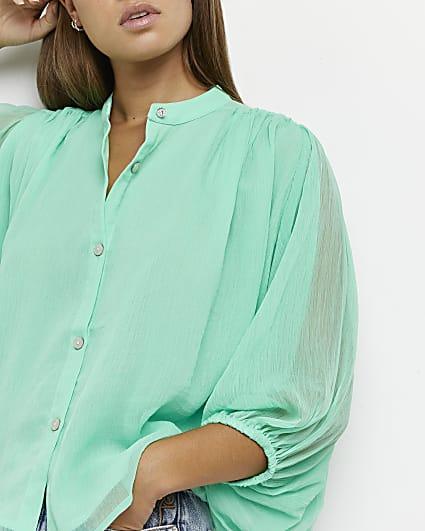 Green batwing shirt