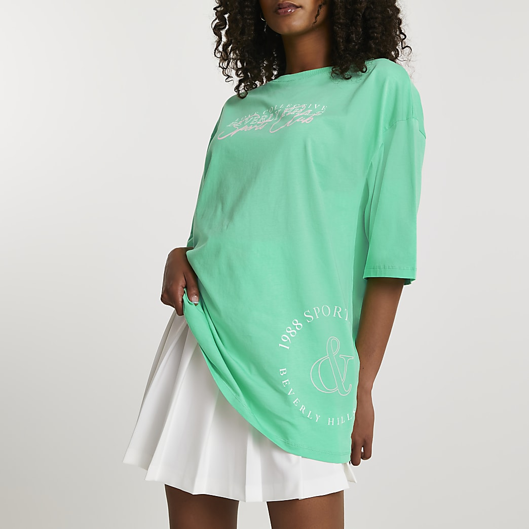Green Beverly Hills oversized t-shirt