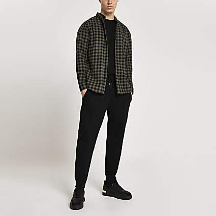 Green buffalo check long sleeve shirt
