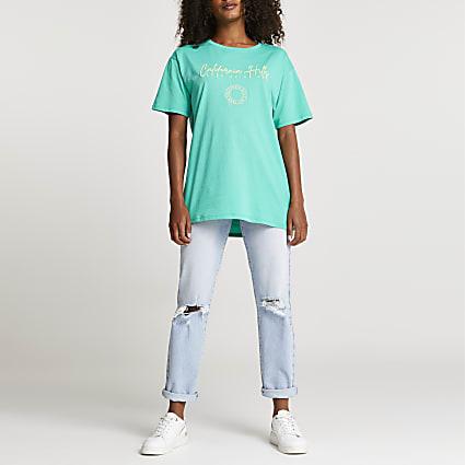 Green 'California Hills' boyfriend t-shirt