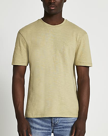 Green embroidered t-shirt