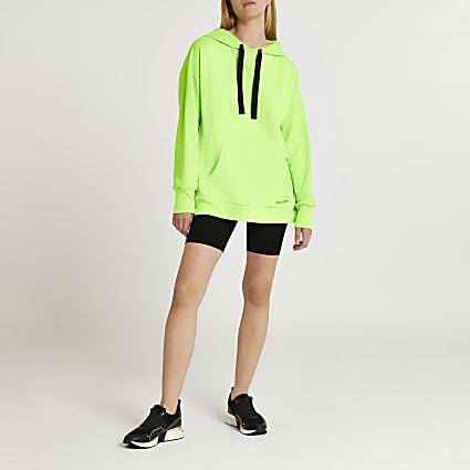Green fluro oversized hoodie