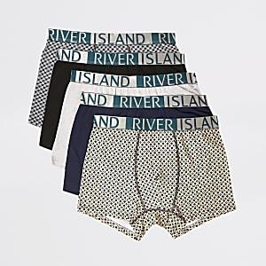 GroeneRI strakke boxers met geometrische print set van 5