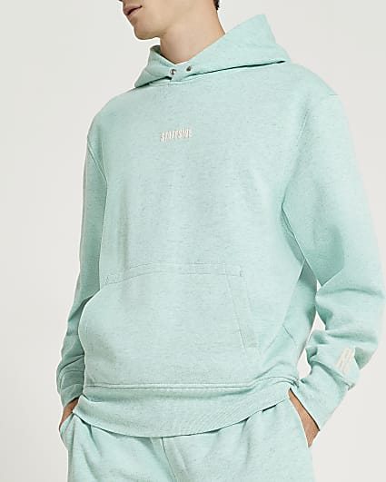 Green graphic hoodie
