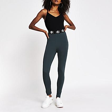 Green high waisted RI legging