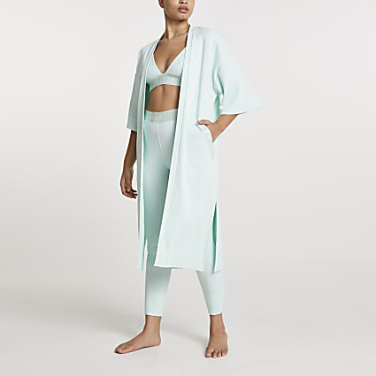 Green Intimates longline cardigan