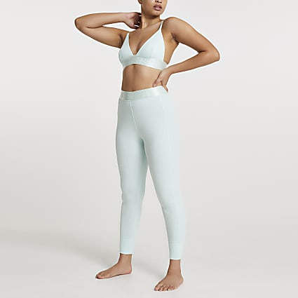 Green Intimates rib leggings