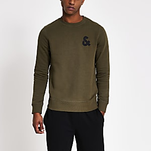 Jack & Jones – Grünes Sweatshirt