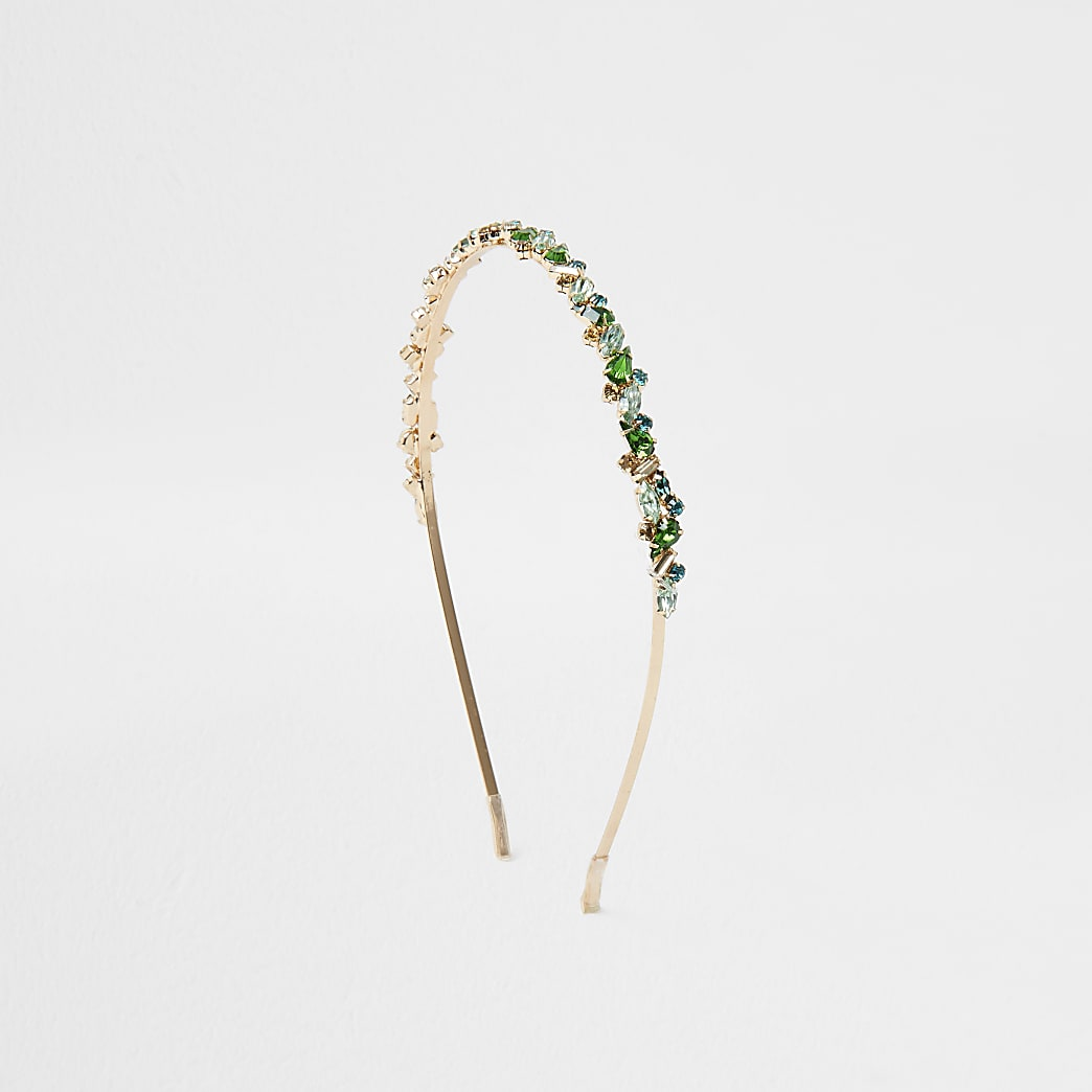 Green Jewelled Metal Headband