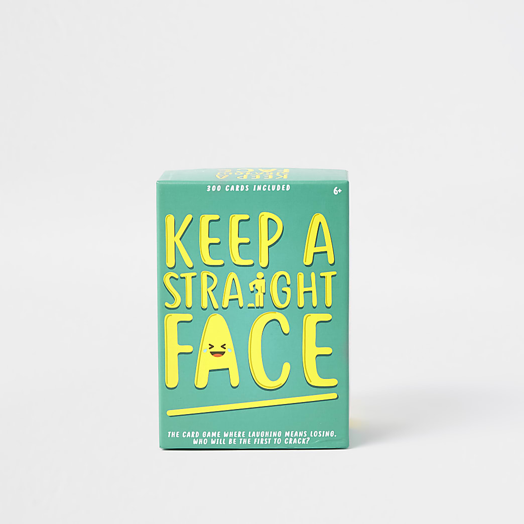 Green 'Keep a straight face' card game