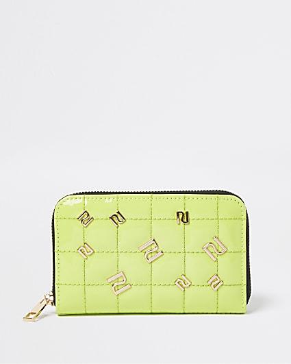 Green neon RI studded purse