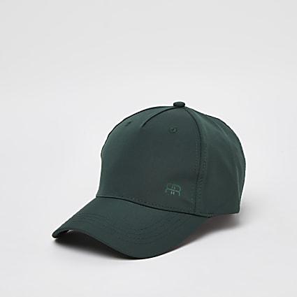 Green nylon RR printed cap