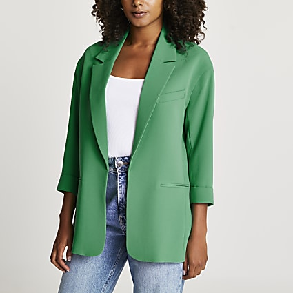 Green oversized blazer