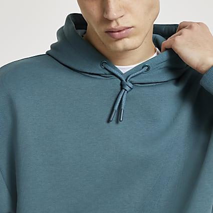 Green oversized long sleeve hoodie