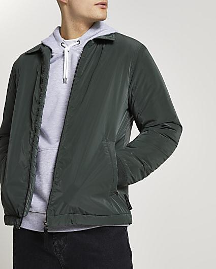 Green padded coach jacket
