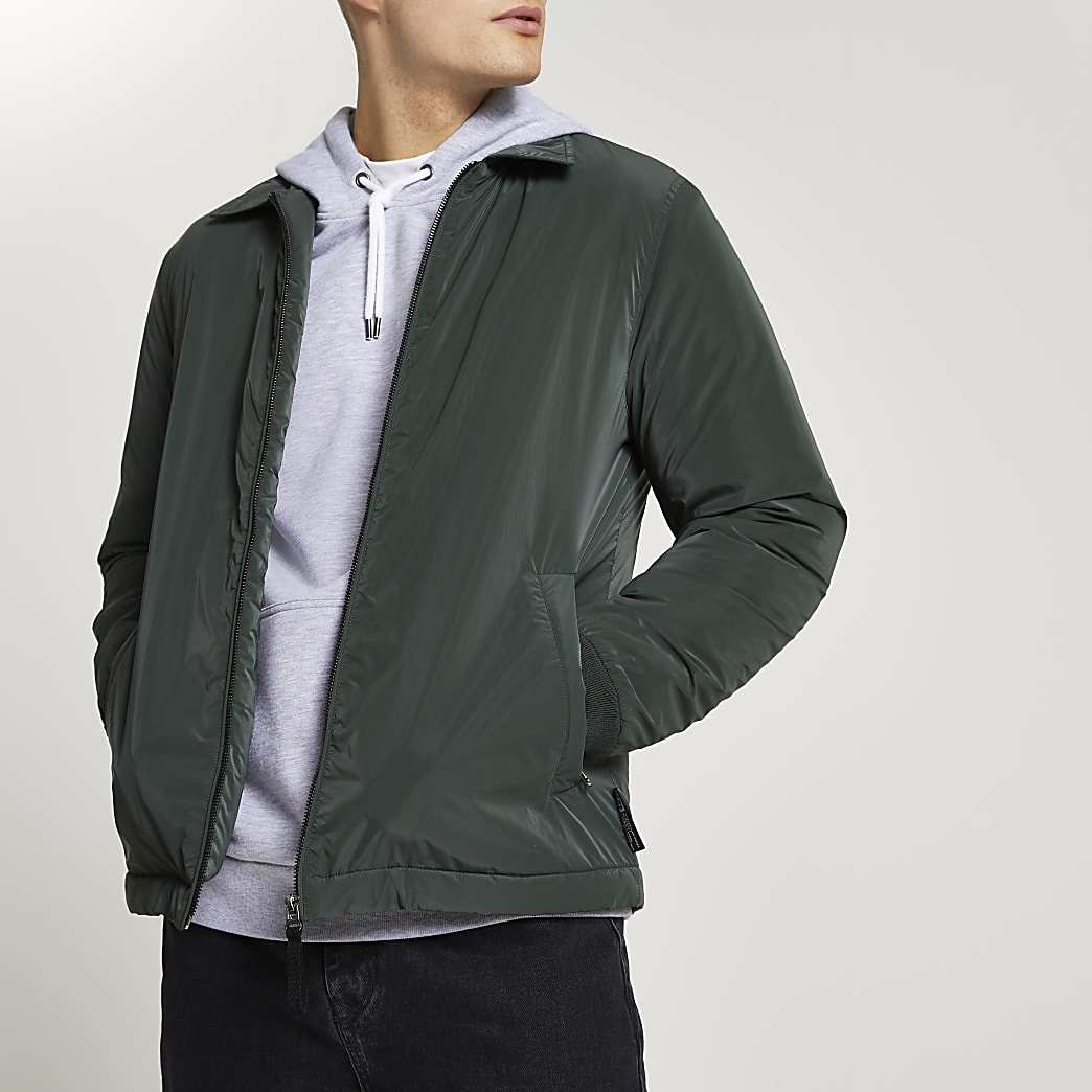 Green padded coach jacket
