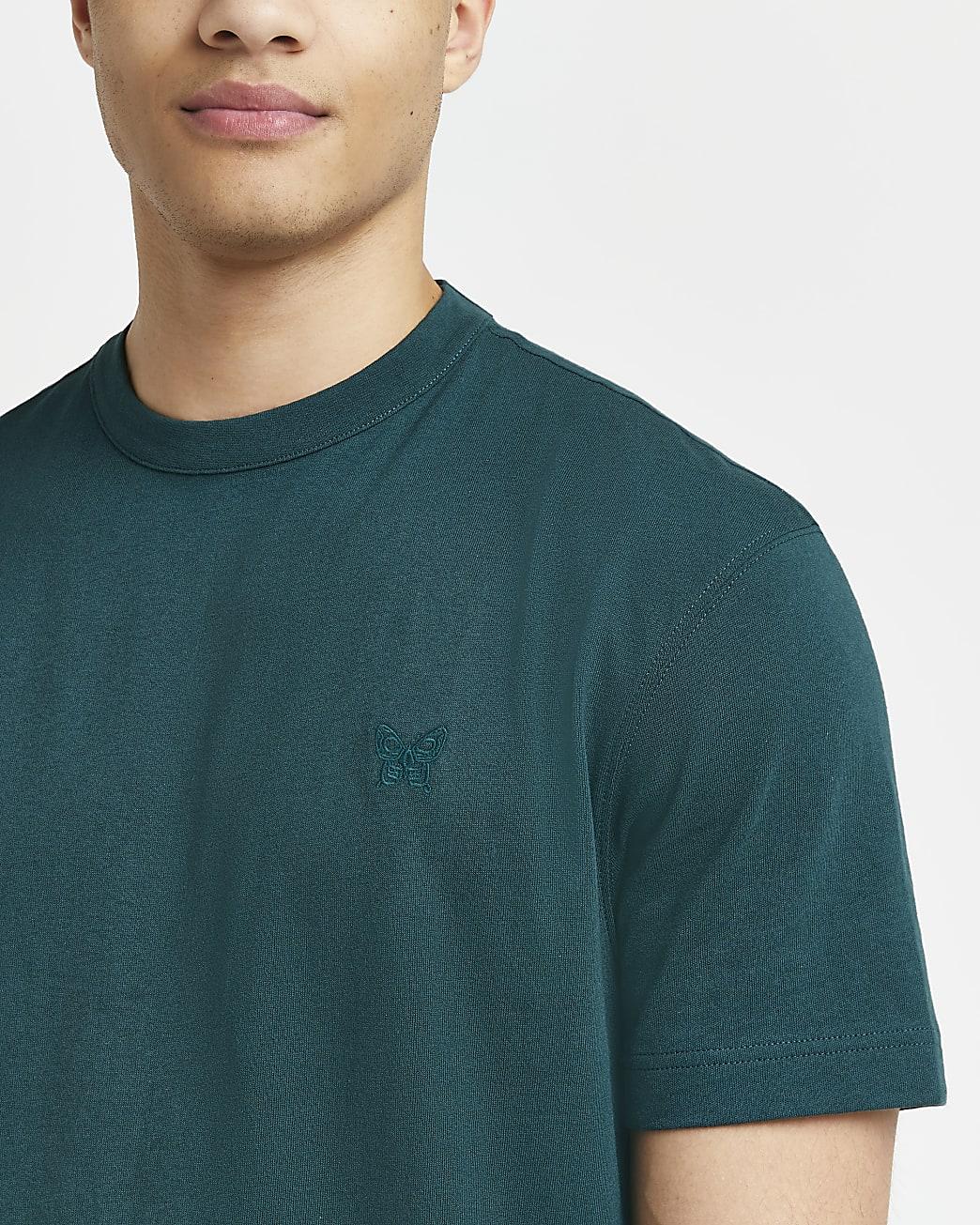 Green regular fit t-shirt