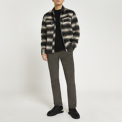 Green relaxed fit cord trousers