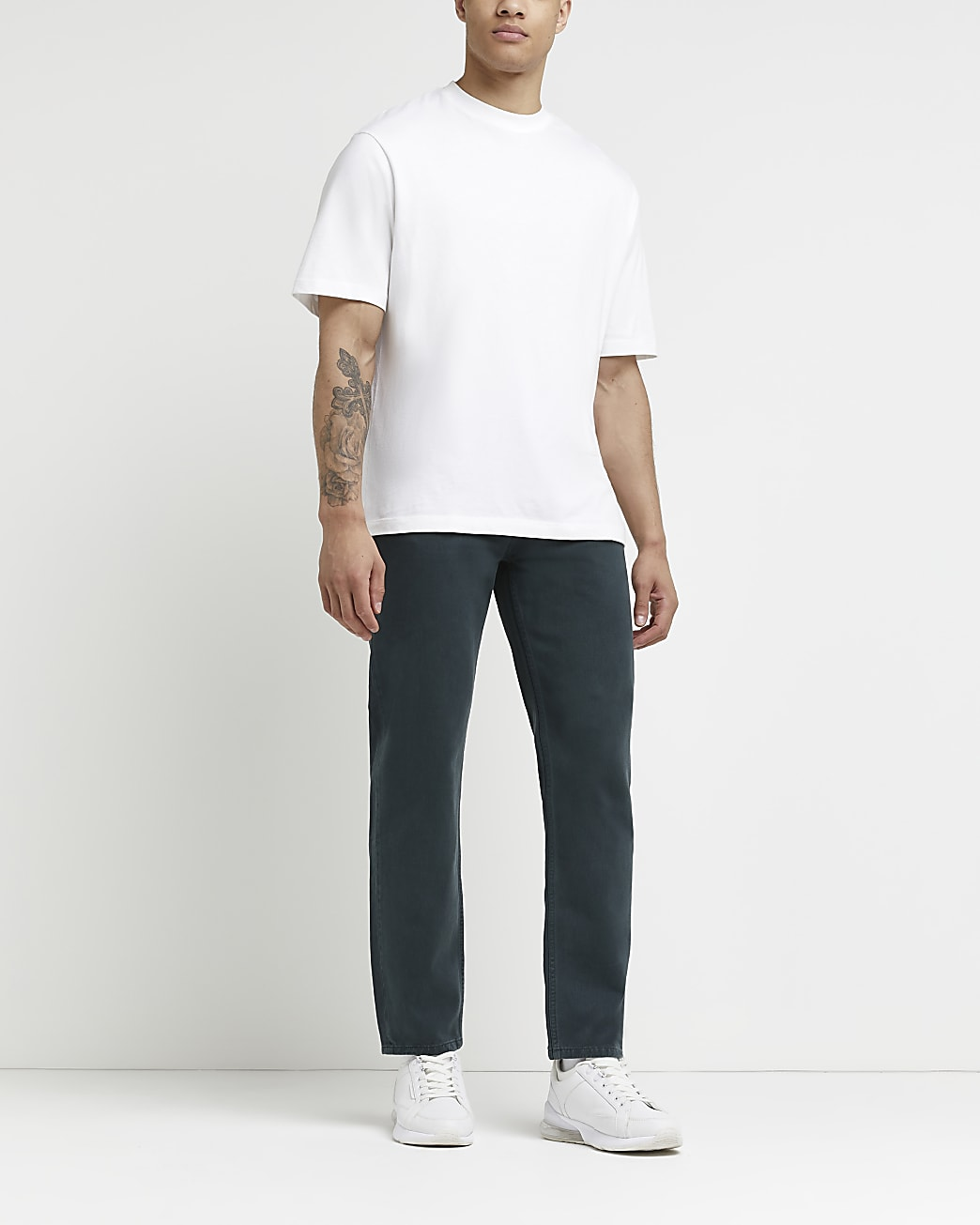 Green relaxed fit jeans