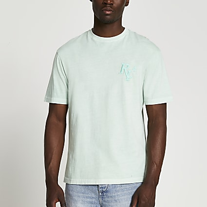 Green RI 4 washed short sleeve t-shirt