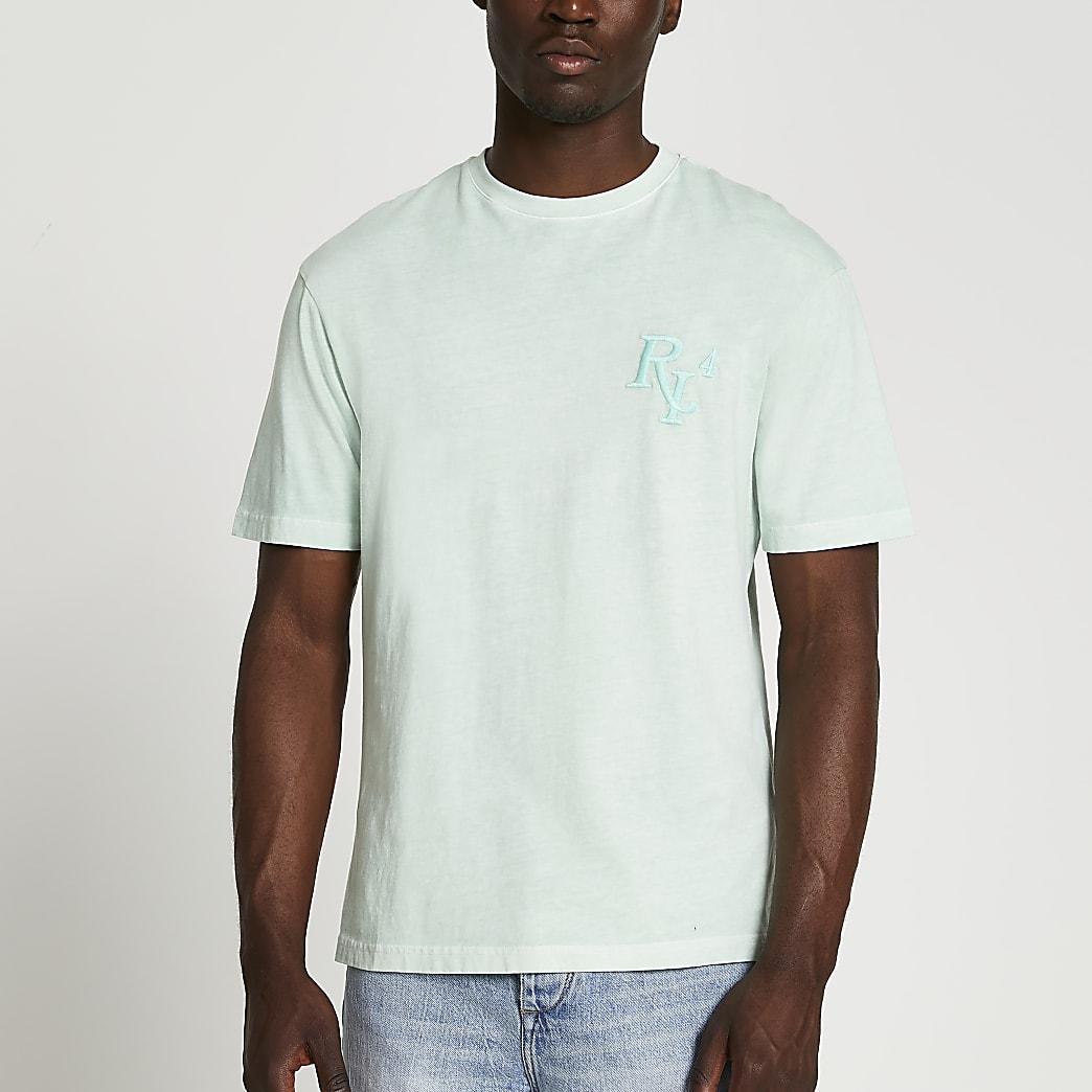 Green RI 4 washed short sleeve t-shirt