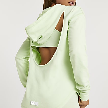 Green RI Active cut out back hoodie